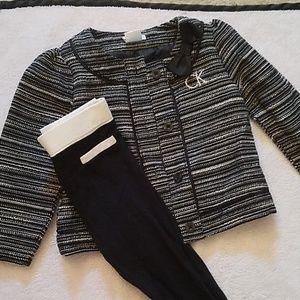 calvin klein girls 24 months jacket and pant set